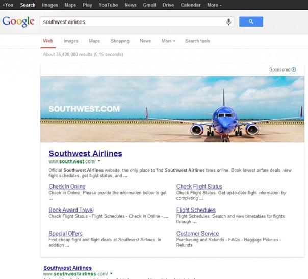 Werbebanner von Google