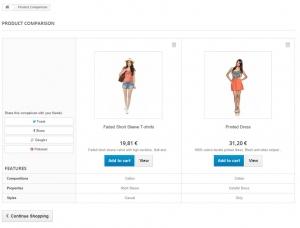 PrestaShop-Produktvergleich